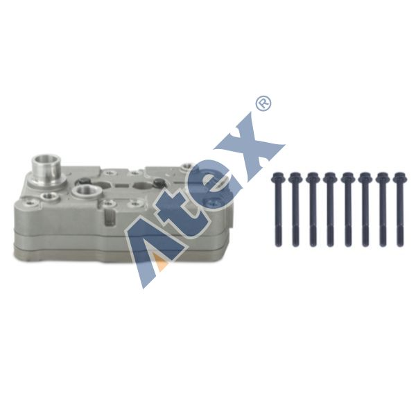 127-61510 RK.01.516 Cylinder Head, Compressor (Plate Included)