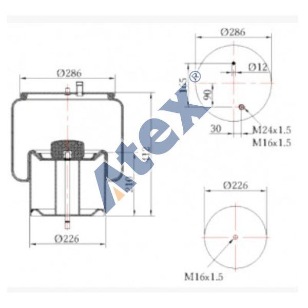 450-022788 20722412 Air Spring, Suspension